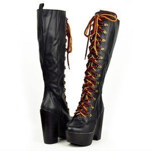 Jeffrey Campbell Expelled Knee high boots! RARE! 9